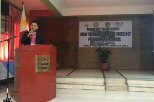 Knowledge Sharing on Disaster Management and Emergency Preparedness Protocol in NCR - April 28, 2018 g11