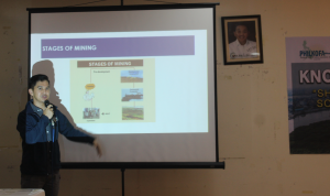 "Mr. Christian Kevin Latiza, Senior Science Research Specialist of the Department of Environment and Natural Resources, discusses ""Capacity Building of Mine Hazard Management for Sustainable Development"""