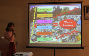 "Ms. Rechale Ybañez, Senior Environmental Management Specialist of the Environmental Management Bureau, shares about ""Emerging Solid Waste Management Technologies"""