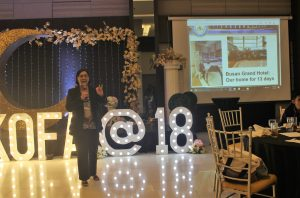 Ms. Alona Belarga, Director for Instruction and Quality Assurance of the Western Visayas State University, reports on the concrete output in her University of the training program she attended.