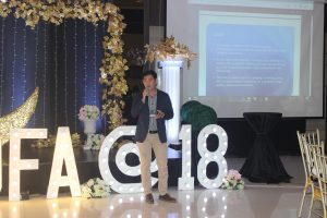 Mr. John Paul Dela Cruz, Education Program Specialist II of the Commission on Higher Education, shares about the action plan presented during the training.