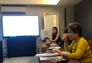 Ms. Ma. Regina Arquiza, KOICA representative, discusses the rationale about having government workers as participants of the Knowledge Sharing activities.