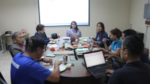 Discussions were continued over lunch. PhilKOFA President, Ms. Gina Borinaga, (fourth from right) asking inputs from the Board regarding the topics for Knowledge Sharing.