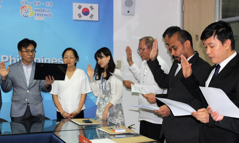 Oath-taking ceremony with KCD Song Min Hyeon