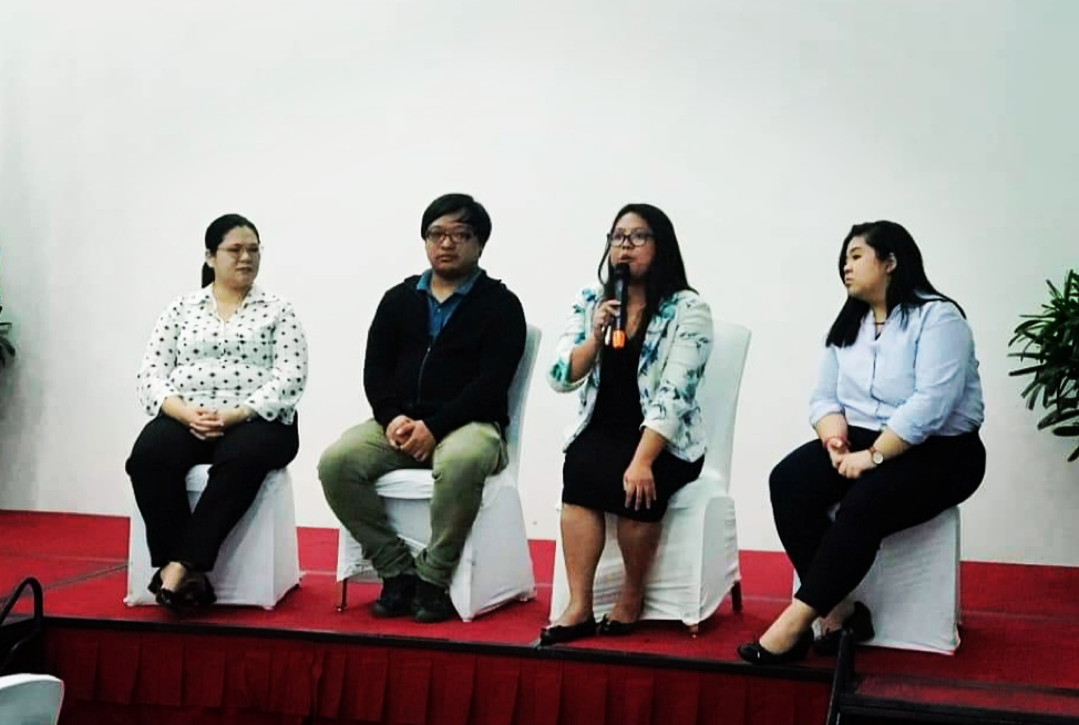 Presenters and speakers during the question-and-answer portion of the program