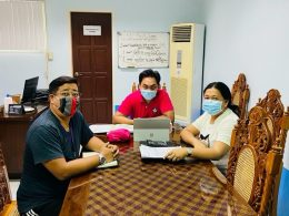 Coordination Meeting with the Philippine Science High School – Ilocos Region Campus. In the photo: (L-R) VP for Luzon, Mr. John Dee Mangoba (Teacher), Dr. Ronnalee N. Orteza (Campus Director)