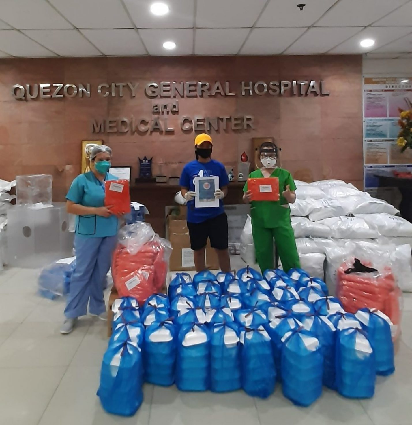 Food packs for the 200 frontliners and workers of QCGH