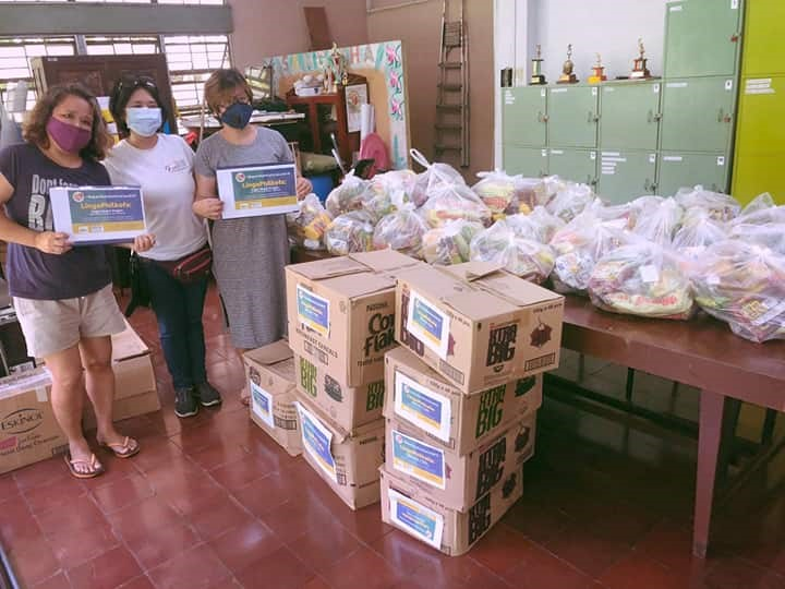 Distribution of goods to the stranded students of the University of the Philippines - Diliman.