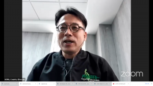 KOICA Country Director Mr. Song Minhyeon giving his message to the Philkofans
